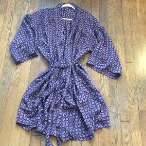 Other - 100% vintage silk paisley robe